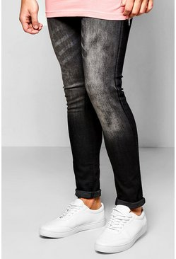 Spray On Skinny Washed Black Jeans