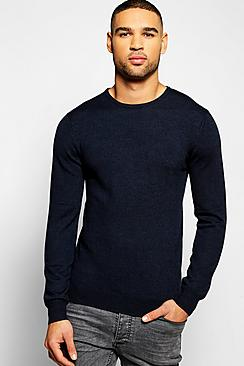 Crew Neck Merino Wool Jumper