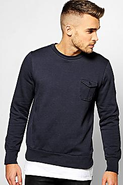 Over The Head Sweater With Pocket