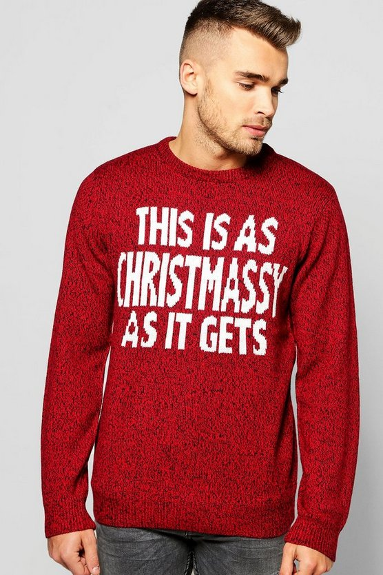 Christmas Slogan Jumper