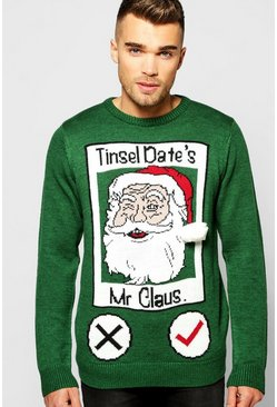 Tinsel Date Christmas Jumper