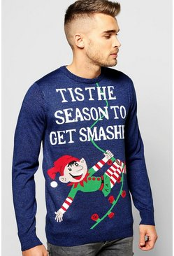 Get Smashed Christmas Jumper