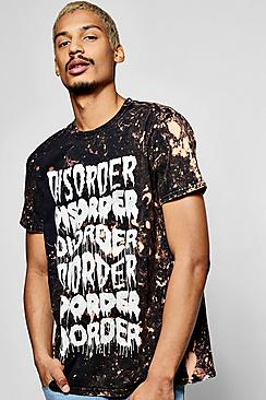 Oversized Disorder Bleach T Shirt