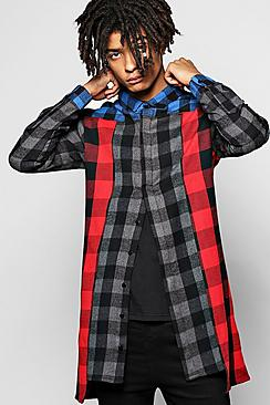 Contrast Panel Check Shirt