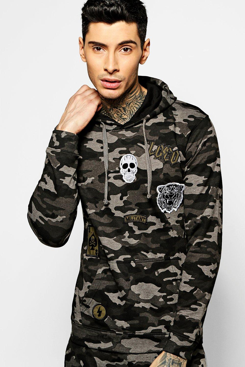 OTH Camo Hoodie With Badges
