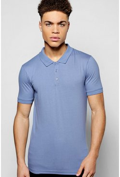 Muscle Fit Jersey Polo