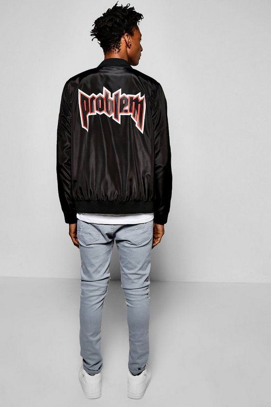 Bomber With Problem Back Print