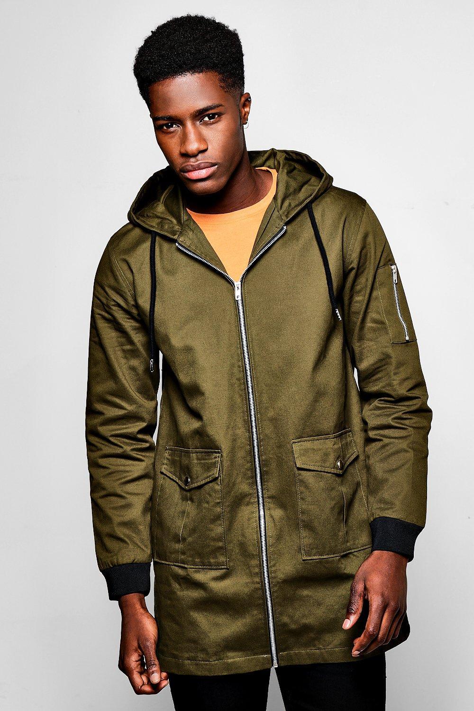 MA1 Zip Through Hooded Anorak  khaki