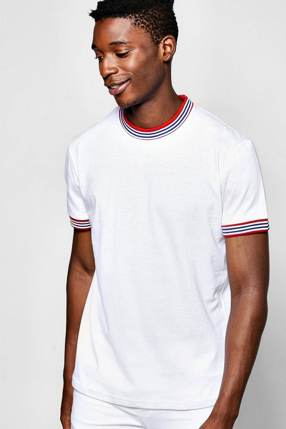 T-Shirt With Sports Rib