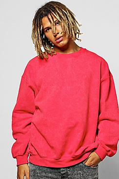 Oversized Acid Wash Sweatshirt