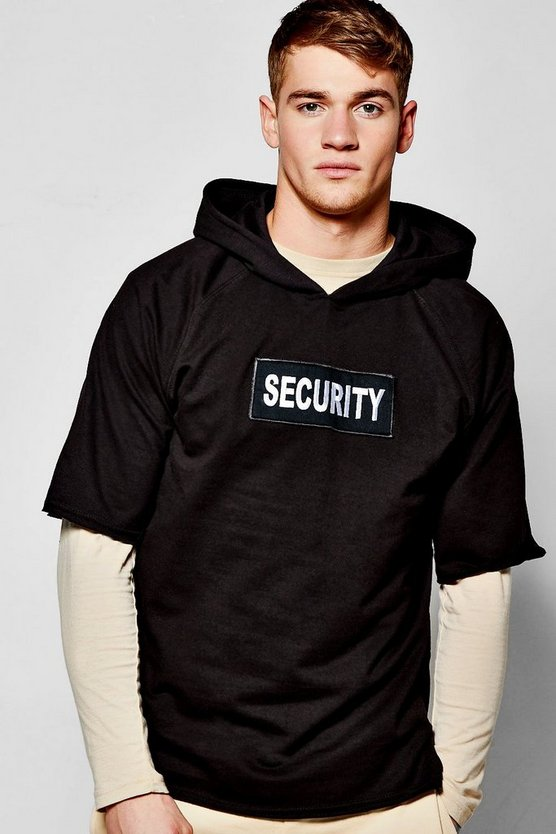 Security Over The Head Raw Edge Hoodie