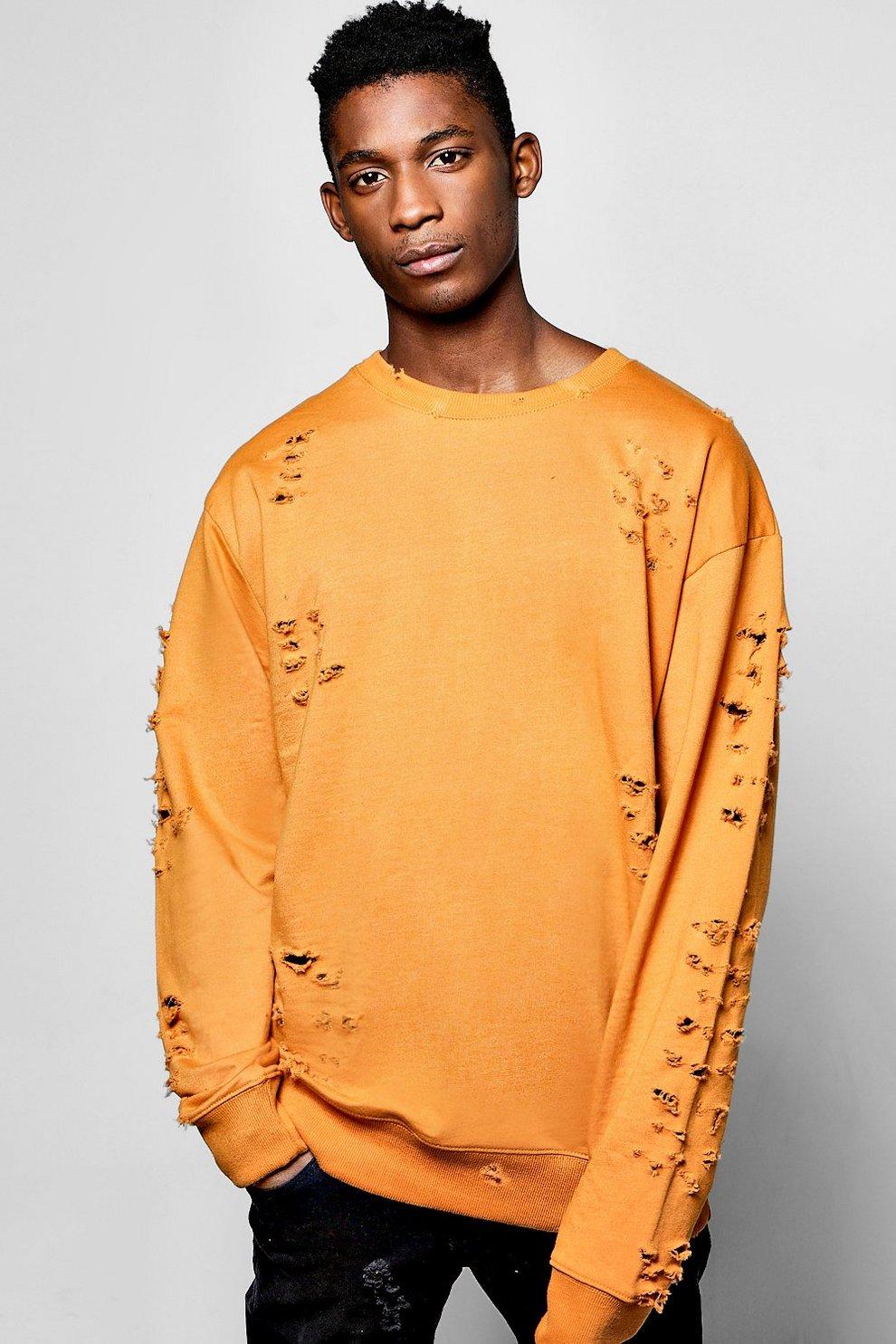 Oversized Extreme Destroyed Sweatshirt