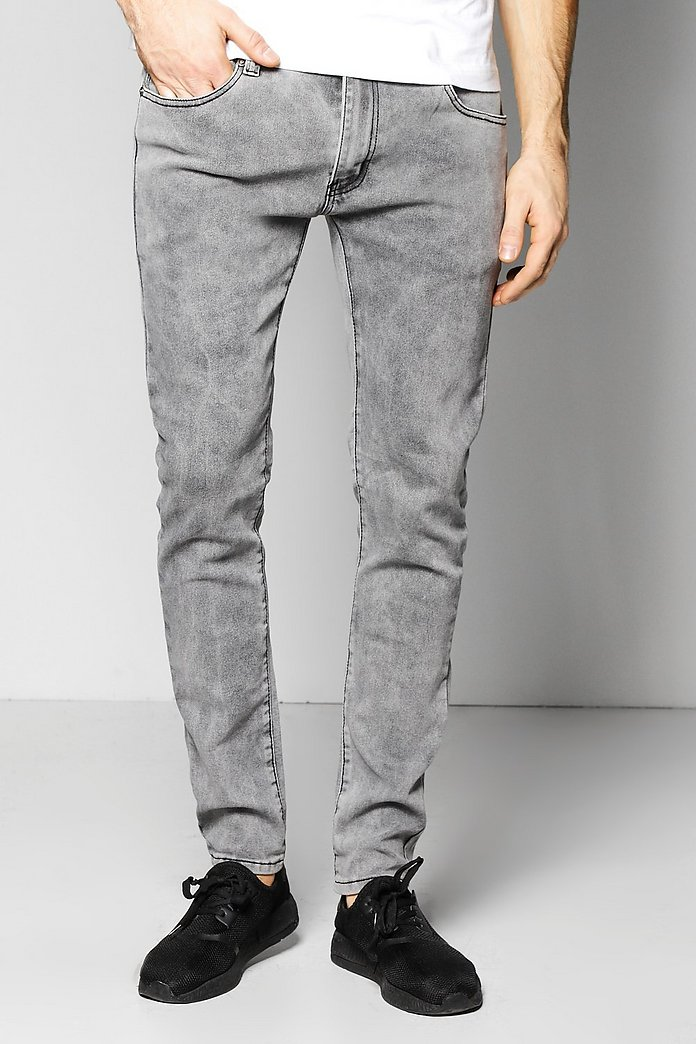Stretch Skinny Fit Washed Fashion Jeans