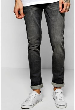 Skinny Fit Sandblasted Grey Fashion Jeans