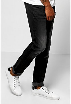 Skinny Fit Washed Black Fashion Jeans