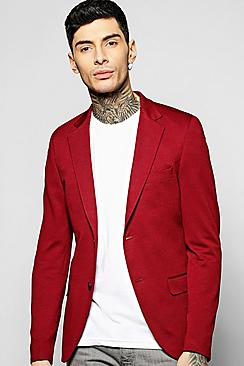 Slim Fit Honeycomb Blazer