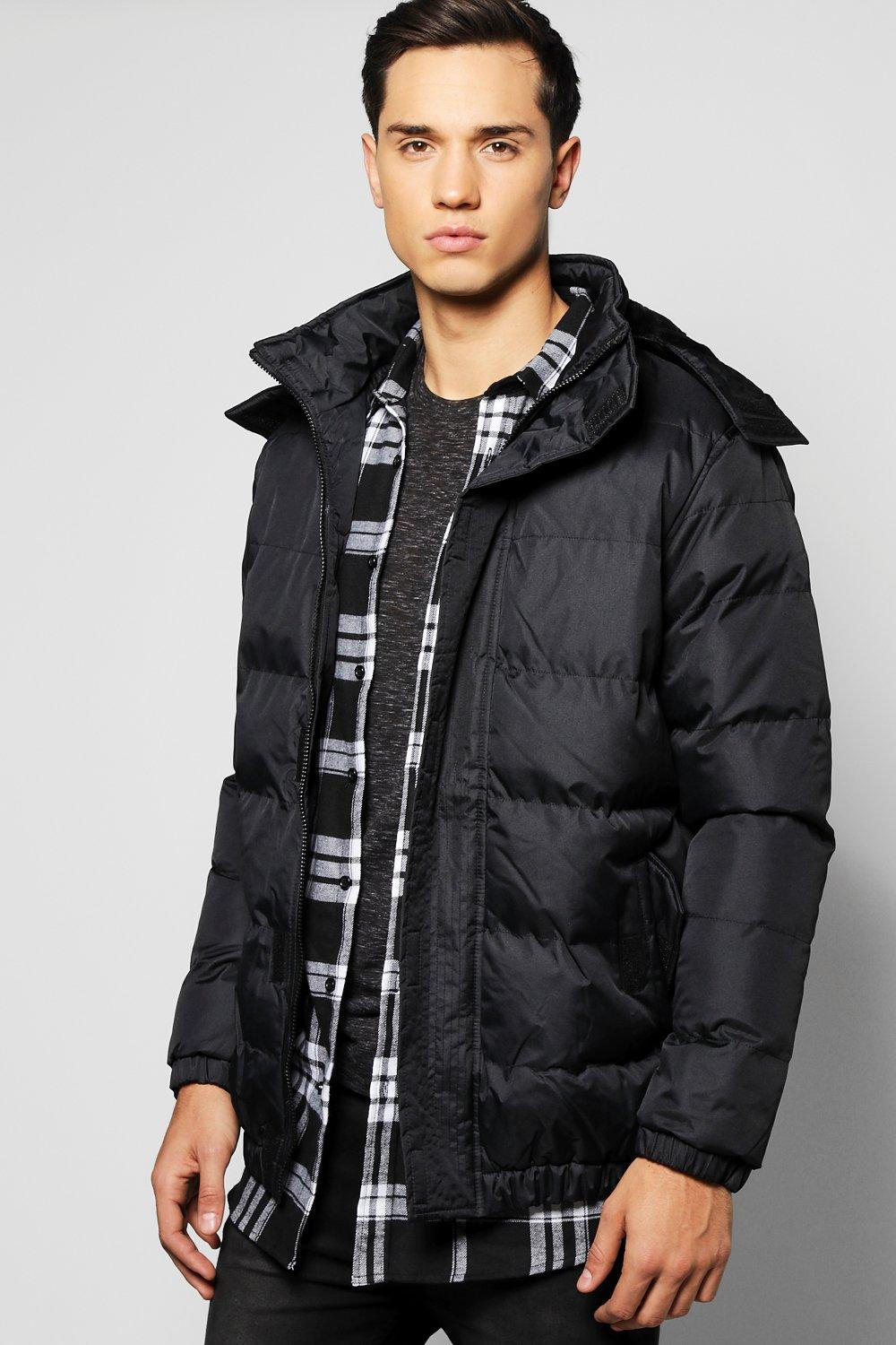 Hooded Quilted Parka Jacket