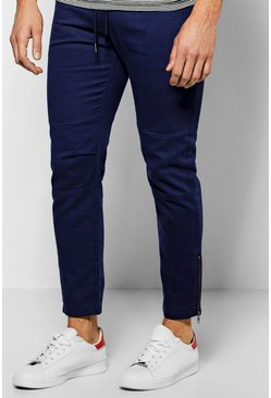 Skinny Fit Chinos With Rp Knee And Zips