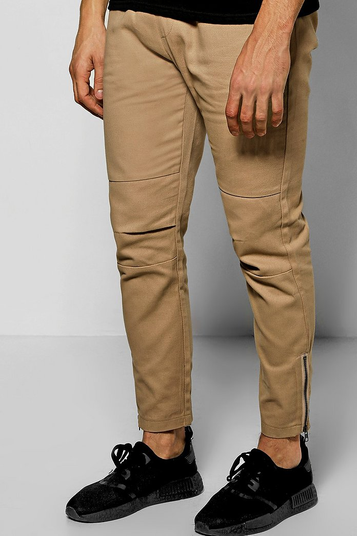 Skinny Fit Chinos With Zips