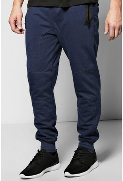 Skinny Fit Joggers With Chunky Zips