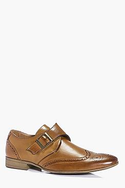 Single Strap Brogue Shoe