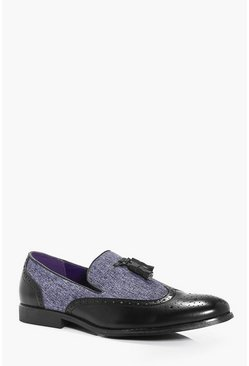 Mix Panel Tassel Loafer