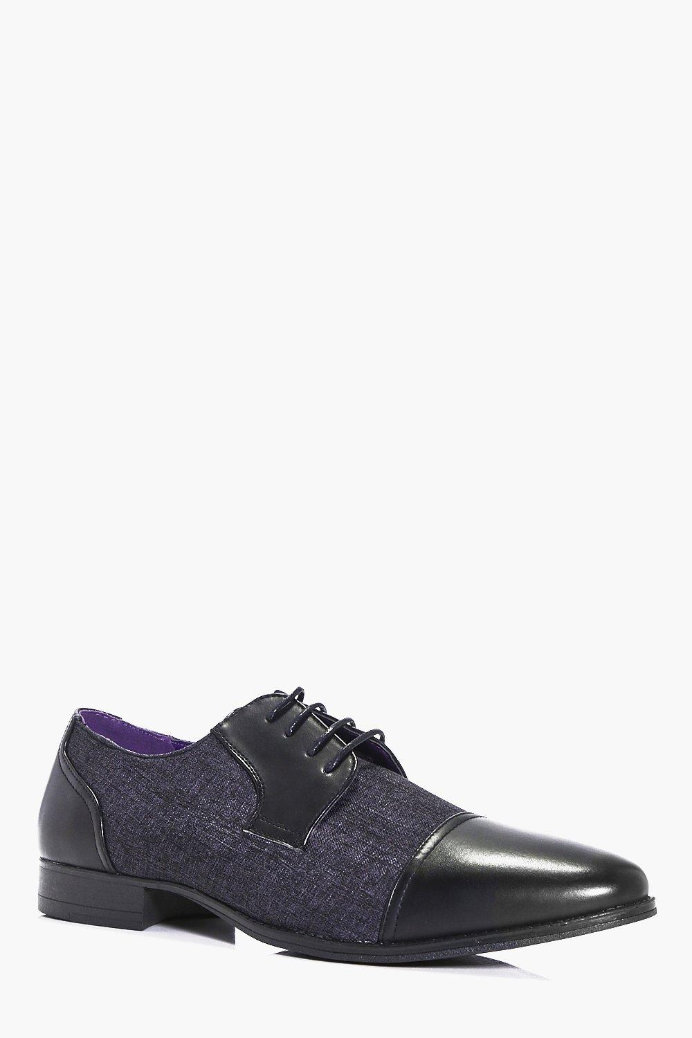 Mix Panel Formal Lace Up Shoe