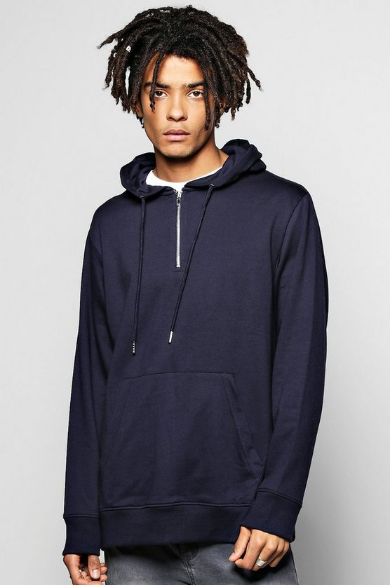 Oversized Over The Head Hoodie With Zips