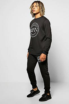 Skinny Fit MAN Sweat Tracksuit