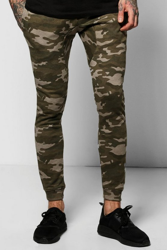 Skinny Fit Camo Joggers