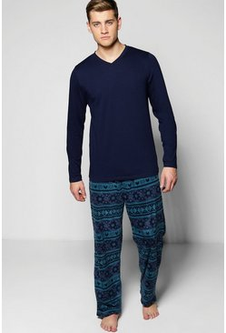 Fleece Fairisle Pyjama Set