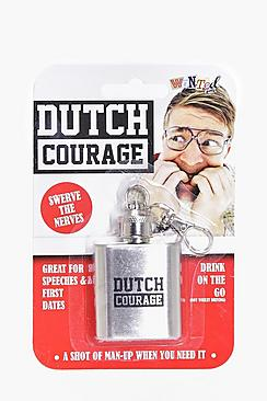 Dutch Courage Hip Flask Keyring