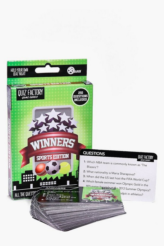 Sports Edition Quiz Cards