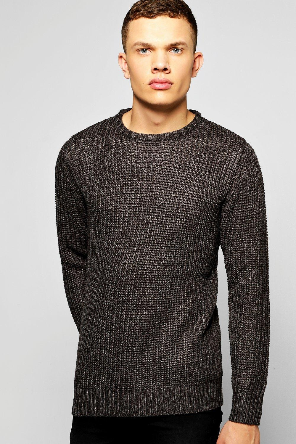 Heavy Fisherman Rib Crew Neck Jumper