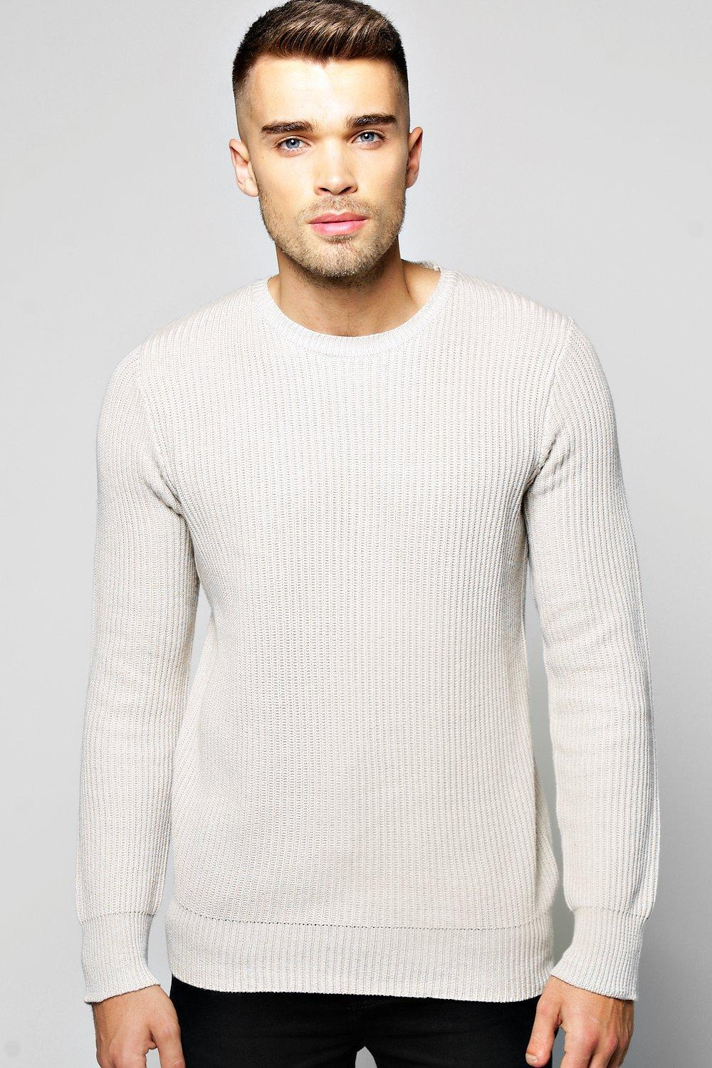 Fisherman Rib Crew Neck Jumper
