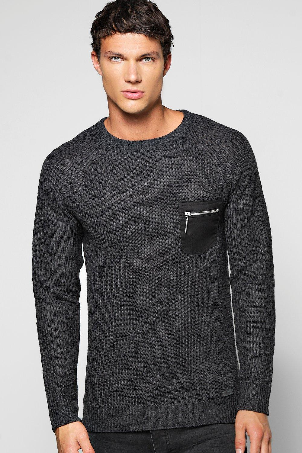 Fishermand Rib Jumper With Patch Pockets