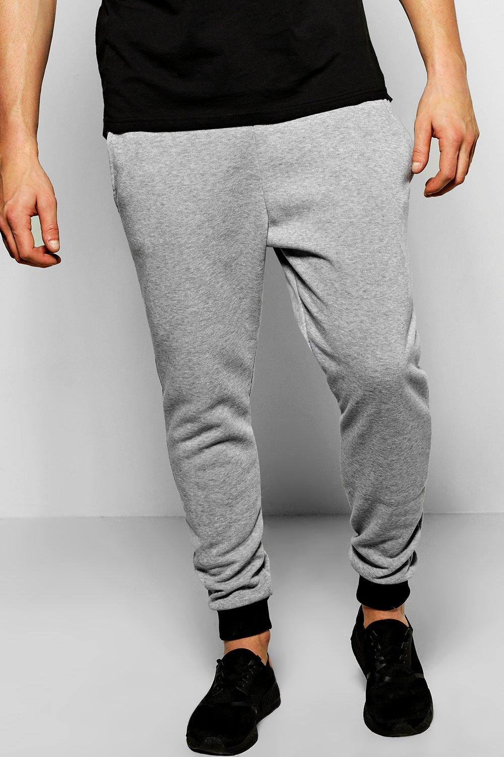 Skinny Joggers With Contrast Cuff