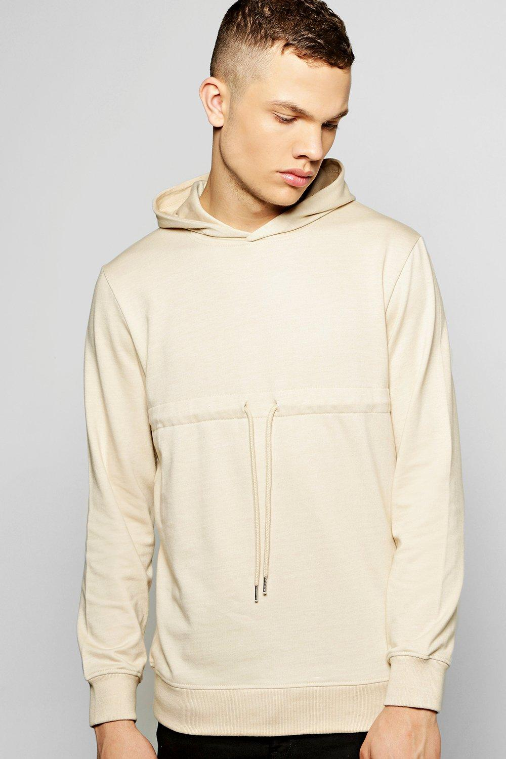Over the Head Hoodie With Drawcord