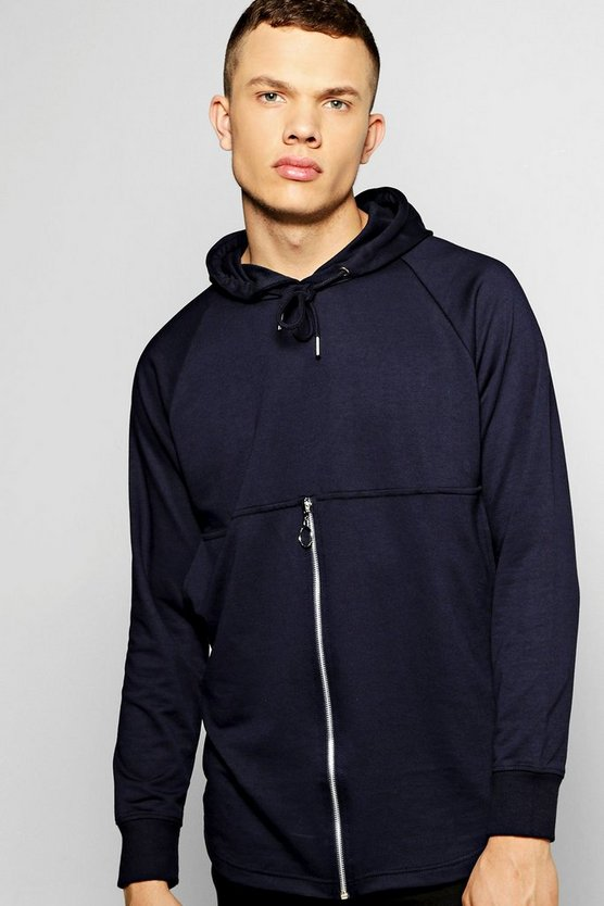 Hoodie With Zip Centre