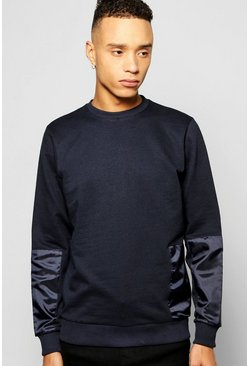 Multi Patch Crew Neck Sweatshirt