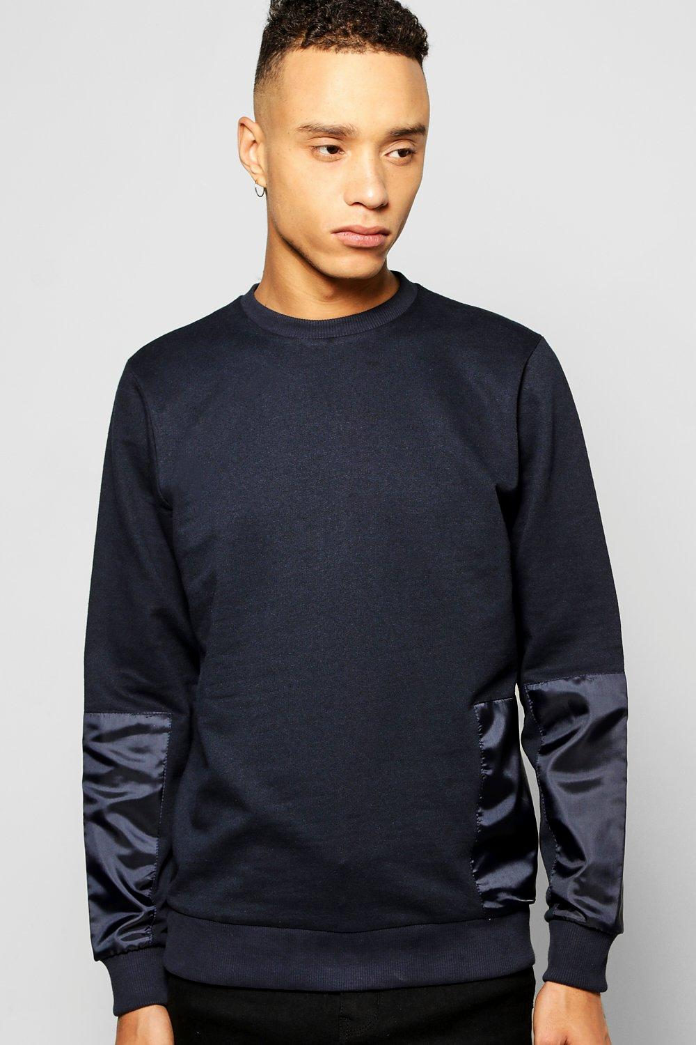 Multi Patch Crew Neck Sweater