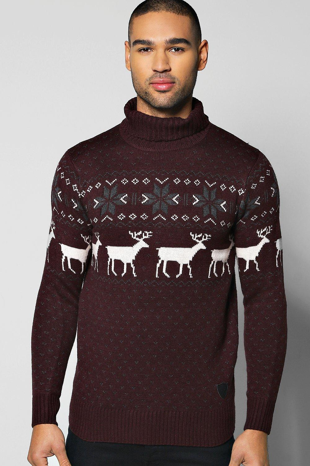 Fairisle Christmas Roll Neck Jumper