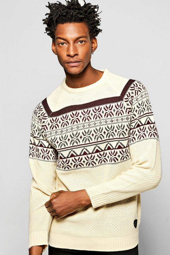 Fairisle Christmas Crew Neck Jumper