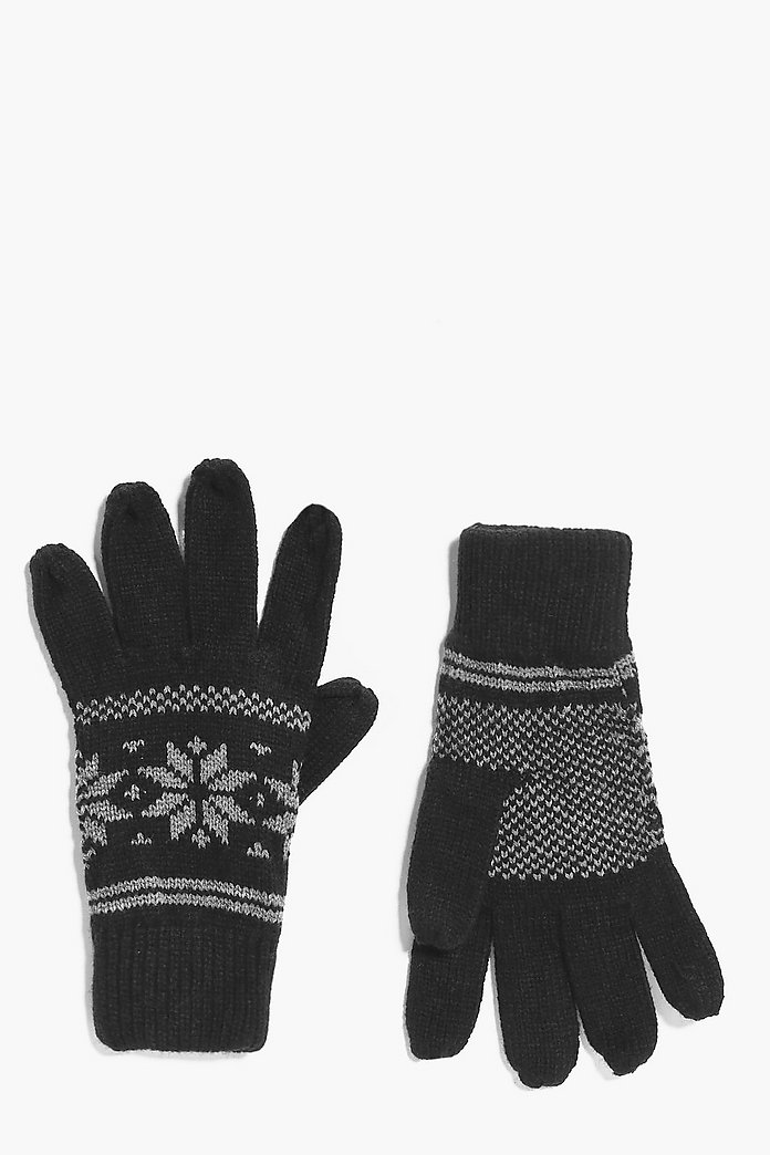 Fairisle Snowflake Gloves
