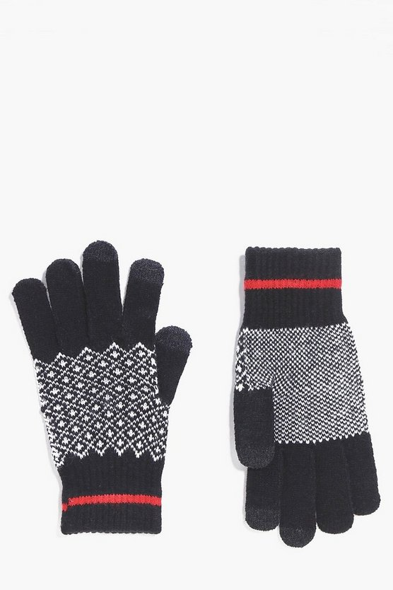 Fairisle Touch Screen Gloves