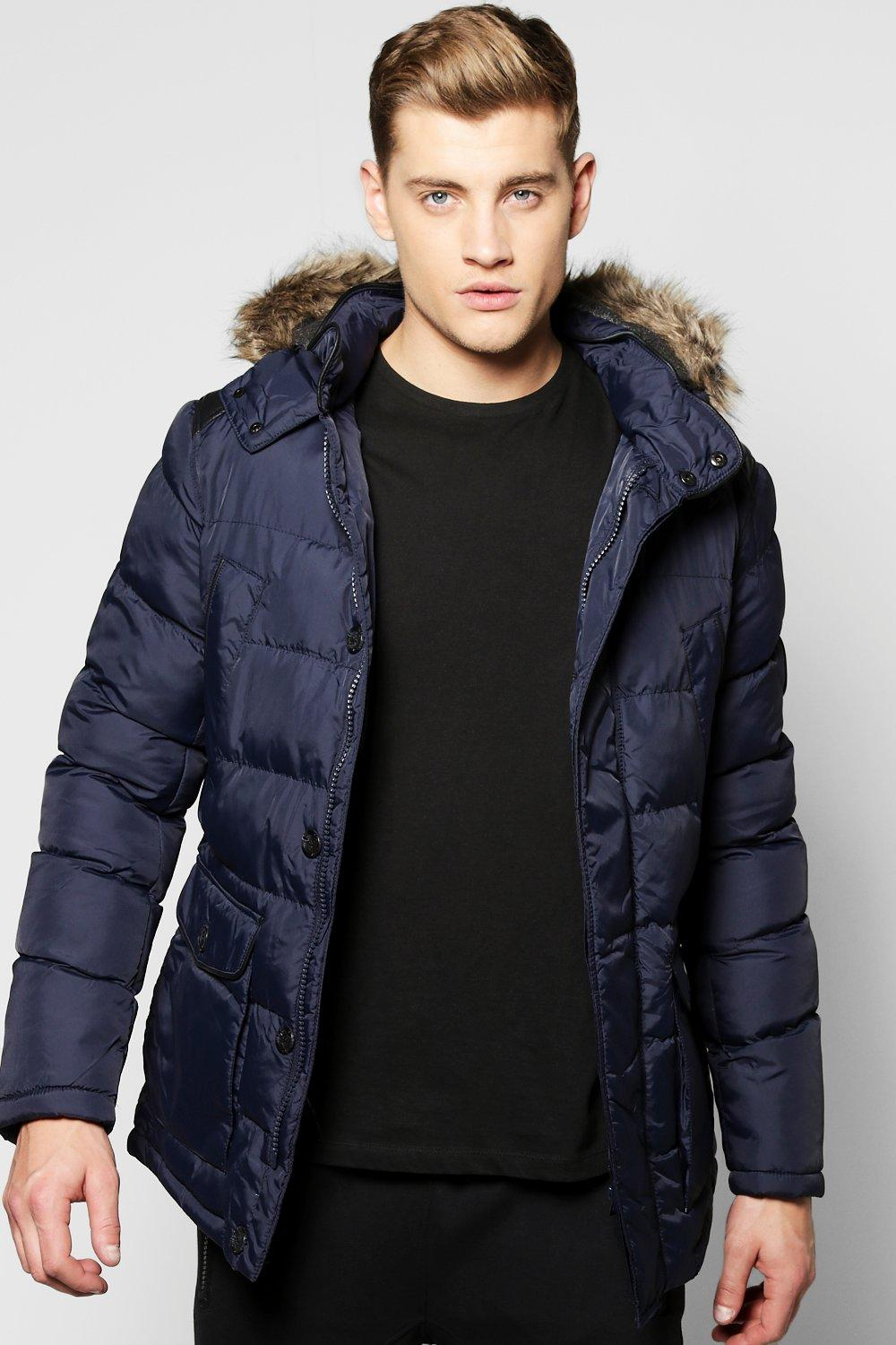 Hooded Padded Parka Jacket