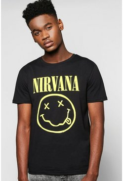 Nirvana T Shirt With Scoop Hem