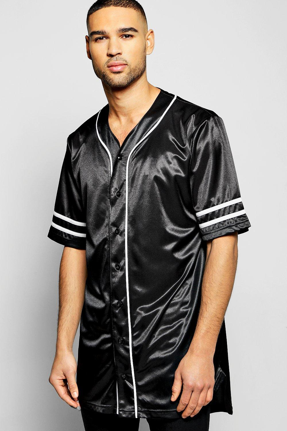 Oversized Longline Baseball Shirt