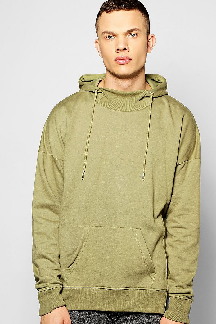 Oversized Snorkel Hoodie with Rib Details