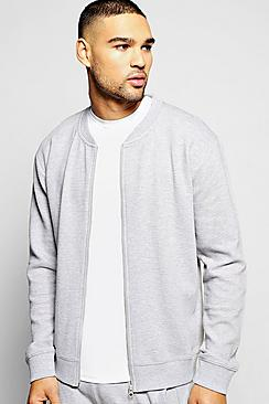 Jersey Ottoman Ribbed Bomber